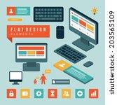 flat design business concept... | Shutterstock .eps vector #203565109