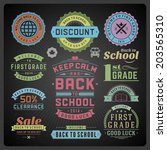 back to school vector design... | Shutterstock .eps vector #203565310