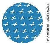 circle airplane shameless... | Shutterstock .eps vector #2035656386