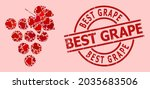 rubber best grape stamp seal ... | Shutterstock .eps vector #2035683506