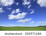 clouds and the sky on grassland | Shutterstock . vector #203571184