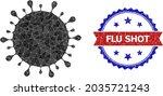 low poly covid virus polygonal... | Shutterstock .eps vector #2035721243