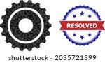 low poly gearwheel polygonal... | Shutterstock .eps vector #2035721399