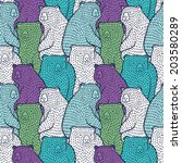 Colorful Bears Seamless Pattern