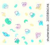 vector illustration of a cute...   Shutterstock .eps vector #2035806146