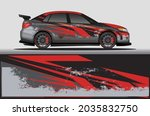 car livery wrap decal  rally... | Shutterstock .eps vector #2035832750