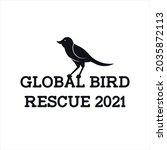 global bird rescue 2021 black...   Shutterstock .eps vector #2035872113