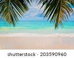 amazing tropical summer beach | Shutterstock . vector #203590960