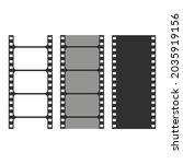 film strip set isolated on...   Shutterstock .eps vector #2035919156