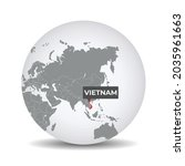 world globe map with the... | Shutterstock .eps vector #2035961663