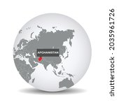 world globe map with the... | Shutterstock .eps vector #2035961726