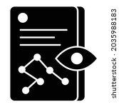 vector prediction glyph icon...   Shutterstock .eps vector #2035988183