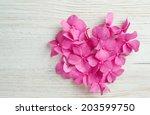 Heart Made Of Hydrangea Flower