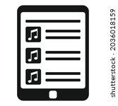 tablet playlist icon simple...