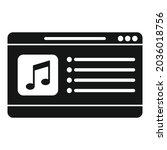 laptop playlist icon simple...