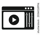 online video edit icon simple...