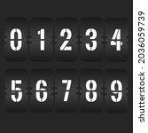 flip clock numbers. retro...