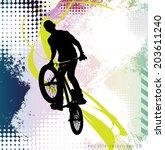 sport vector illustration  | Shutterstock .eps vector #203611240