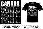 canada typography vector t... | Shutterstock .eps vector #2036116103