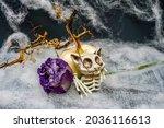 Spooky  Halloween Display Of A...