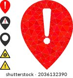 triangle notice map pointer... | Shutterstock .eps vector #2036132390