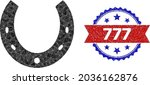 lowpoly horseshoe polygonal 2d... | Shutterstock .eps vector #2036162876
