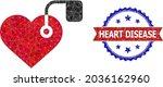 lowpoly heart pacemaker... | Shutterstock .eps vector #2036162960