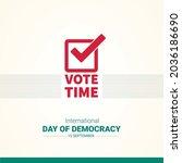 vote time vector art and design ... | Shutterstock .eps vector #2036186690
