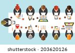 creative business and office... | Shutterstock .eps vector #203620126