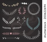 wedding wreaths and laurels ... | Shutterstock .eps vector #203622694