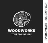 woodworks logo design template. ...   Shutterstock .eps vector #2036293160