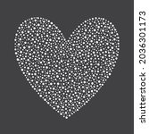 heart shape made of hand drawn... | Shutterstock .eps vector #2036301173