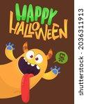 artoon monster character.... | Shutterstock .eps vector #2036311913