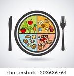 food design over white... | Shutterstock .eps vector #203636764