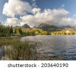 autumn in the tatra mountains... | Shutterstock . vector #203640190