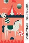 vintage or retro carousel also...   Shutterstock .eps vector #2036439386