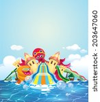 octopus water park | Shutterstock .eps vector #203647060