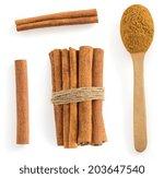 cinnamon stick isolated on... | Shutterstock . vector #203647540