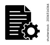 document settings or file... | Shutterstock .eps vector #2036516366