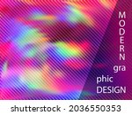 blurry presentation holographic ...   Shutterstock .eps vector #2036550353