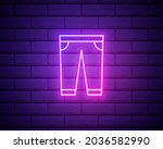 sweatpants clothes neon icon....