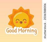 good morning. morning vector... | Shutterstock .eps vector #2036588006