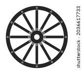 wild west wheel vector icon...   Shutterstock .eps vector #2036617733