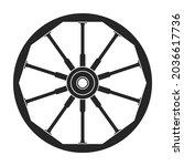 wild west wheel vector icon...   Shutterstock .eps vector #2036617736