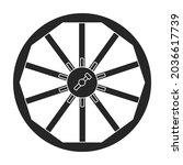 wild west wheel vector icon...   Shutterstock .eps vector #2036617739