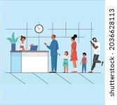 people waiting queue... | Shutterstock .eps vector #2036628113
