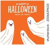 vintage halloween poster design ... | Shutterstock .eps vector #2036639633