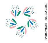 whimsical cute flower doodle... | Shutterstock .eps vector #2036652383