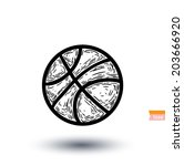 basket ball icon  vector... | Shutterstock .eps vector #203666920