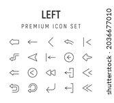premium pack of left line icons....